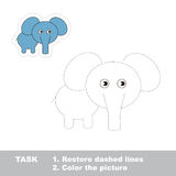 One cartoon elephant to be traced Stock Photos