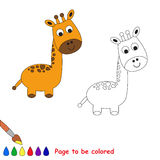 One cartoon giraffe to be colored Royalty Free Stock Photography