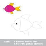 One cartoon pink fish Stock Photo