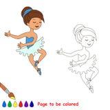 One cartoon pretty girl dance Stock Image