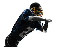 American football player man time out gesture silhouette Royalty Free Stock Photography