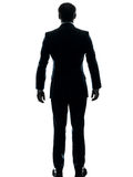Business man hands in pocket silhouette Stock Photo