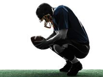 Defeated american football player man silhouette royalty free stock photo