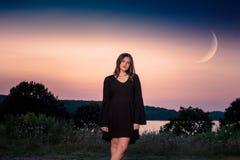 Caucasian High School Senior Girl Outside Royalty Free Stock Photography
