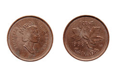 One Cent Canada Coin Royalty Free Stock Photos
