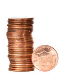 One cent coins Royalty Free Stock Images