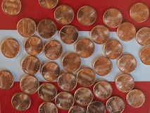 One Cent Dollar coins, United States Royalty Free Stock Image
