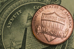 One cent Royalty Free Stock Photos