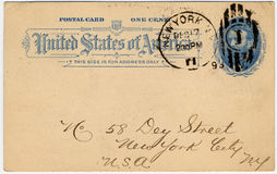 One cent US postcard e Stock Images