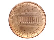 One cent from USA. As most popular coin Stock Photography