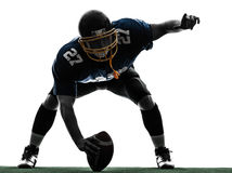 Center american football player man silhouette Stock Photos