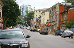 One of the central street in Nizhny Novgorod Stock Photo
