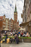 One of the central streets of Gdansk Stock Image