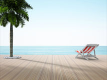 One Chair on the beach stock illustration