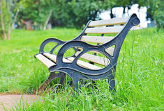 One Chair in Garden Royalty Free Stock Photo