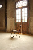 One chair. Light strikes an object, as expressed in the picture you see Royalty Free Stock Image