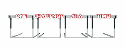 One Challenge at a Time Hurdles stock illustration