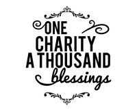 One charity a thousand blessings. Motivation Stock Photos