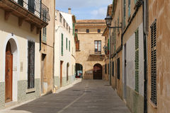 One of the charming streets in Alcudia, Majorca, Spain Royalty Free Stock Photos