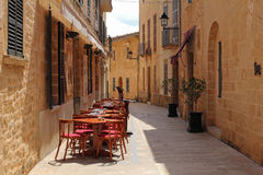 One of the charming streets in Alcudia, Majorca, Spain Stock Photography