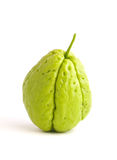 One Chayote isolated on white Royalty Free Stock Photography