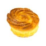 One cheesecake isolated on white background Stock Image