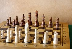 One chess king dominating another Royalty Free Stock Photo