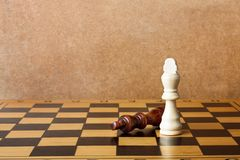 One chess king dominating another Stock Photo