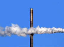 One Chimney and Smoke Stock Photography