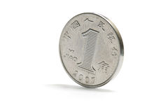 One china silver coin Stock Image