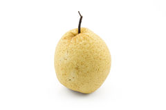 One chinese pear on isolated white background Stock Photos