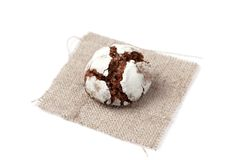 One chocolate crinkle Royalty Free Stock Image