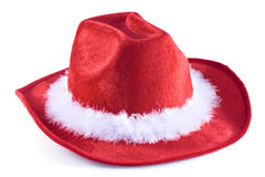 One christmas time cowboy hat. Stock Images