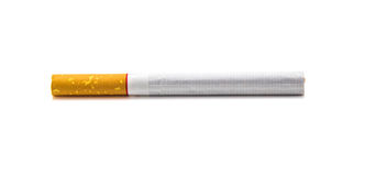 One cigarette isolated on white background. With clipping path Royalty Free Stock Photography