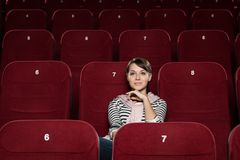 One at the cinema Stock Photo