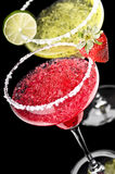 One Classic and a Strawberry Margarita Stock Images
