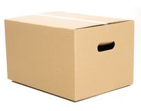 One closed box on the white background Royalty Free Stock Image