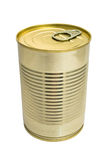 One closed metallic tin Stock Image