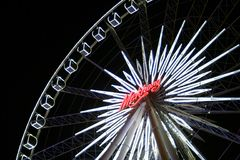 Closed up with Asiatique Ferris wheel. One with closed up view of Asiatique Ferris wheel in Bangkok Thailand Stock Images