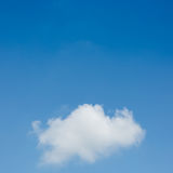 One cloud on clear blue sky Stock Photo