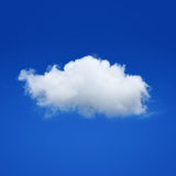 ONE cloud in a sky Stock Photo
