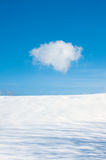 One cloud and snow Royalty Free Stock Photography