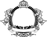 One Color Crown Vintage Ornate Sign Royalty Free Stock Image