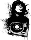 One Color Modern DJ Graffiti Style. Stock Image