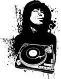 One Color Modern DJ Graffiti Style. Stock Image