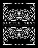 One Color Ornate Roses  Banner Stock Images