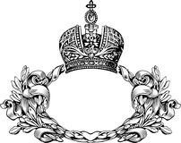 One Color Retro  Royal Crown Curves Stock Photo