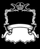 One Color Royal Crown  Curves Banner Royalty Free Stock Photo