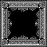 One Color Vector Ornate Title Frame stock illustration