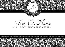 One Color Vector  Title Frame And Pattern Stock Image